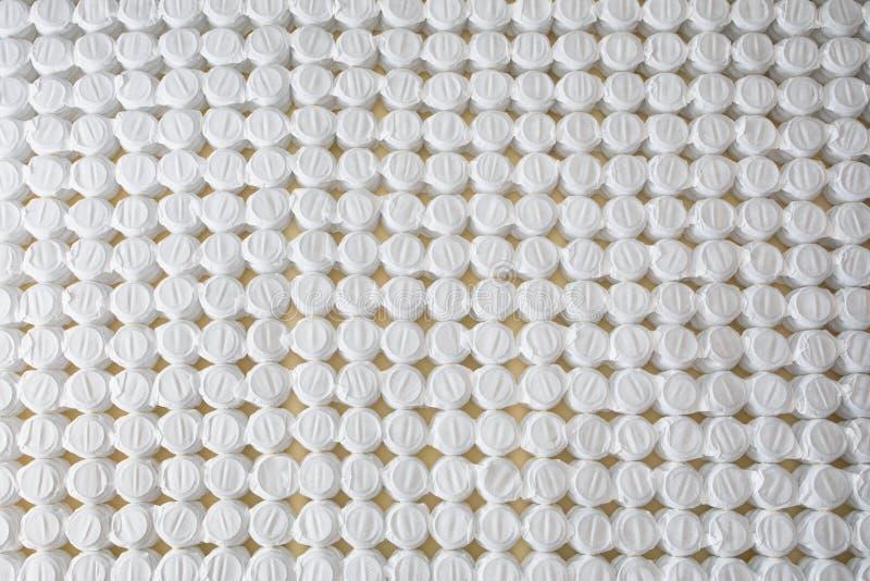 Bezpartyjnik wiosny materac łóżka bazy kieszeniowa podstawa zdjęcia stock