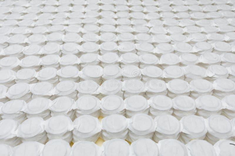 Bezpartyjnik wiosny materac łóżka bazy kieszeniowa podstawa zdjęcie stock