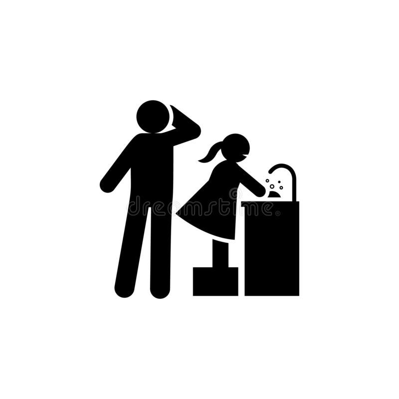 Bezpartyjnik, wychowywaj?cy, pozytywna ikona Element pozytywna wychowywa ikona Premii ilo?ci graficznego projekta ikona podpisz s royalty ilustracja