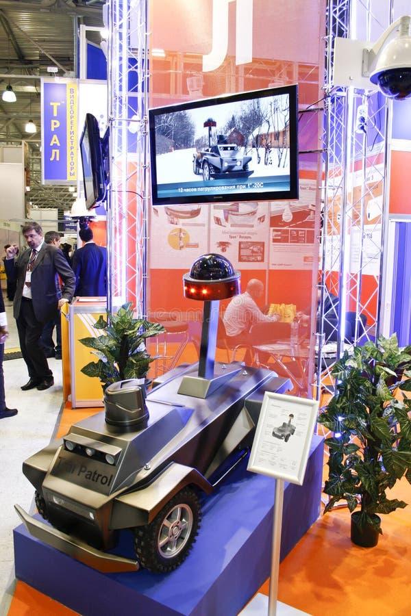 bezpartyjnika patrolowy ochronny robota system obraz royalty free