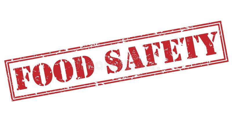 Bezpieczeństwo żywnościowe czerwieni znaczek ilustracji