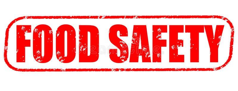 Bezpieczeństwo żywnościowe czerwieni znaczek ilustracja wektor