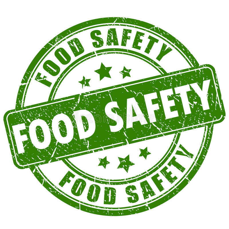 Bezpieczeństwo żywnościowe pieczątka ilustracji