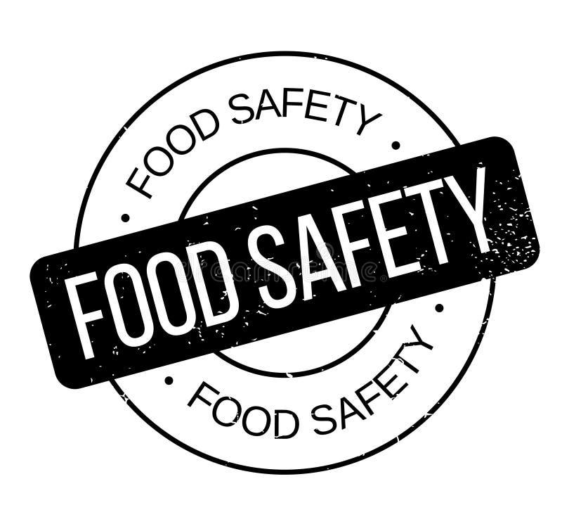Bezpieczeństwo żywnościowe pieczątka ilustracja wektor