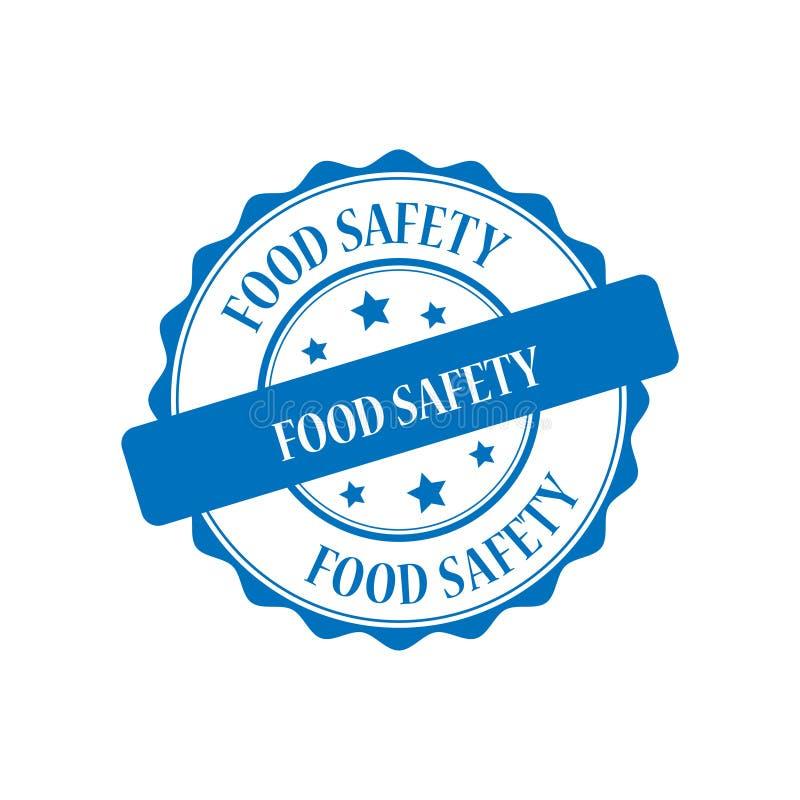 Bezpieczeństwo żywnościowe stemplowa ilustracja royalty ilustracja