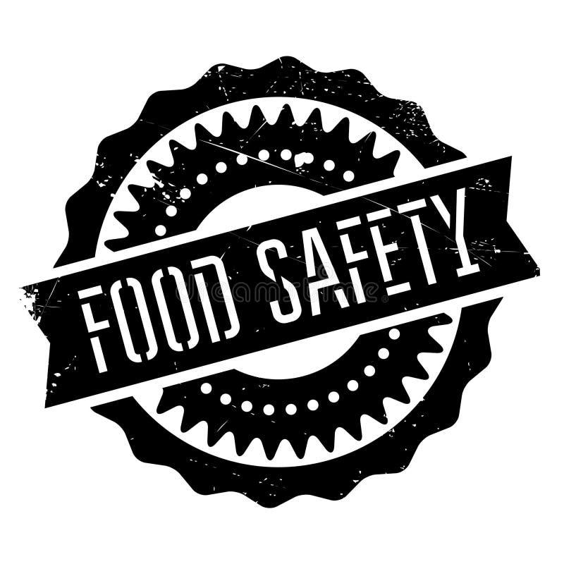 Bezpieczeństwo żywnościowe znaczek ilustracja wektor