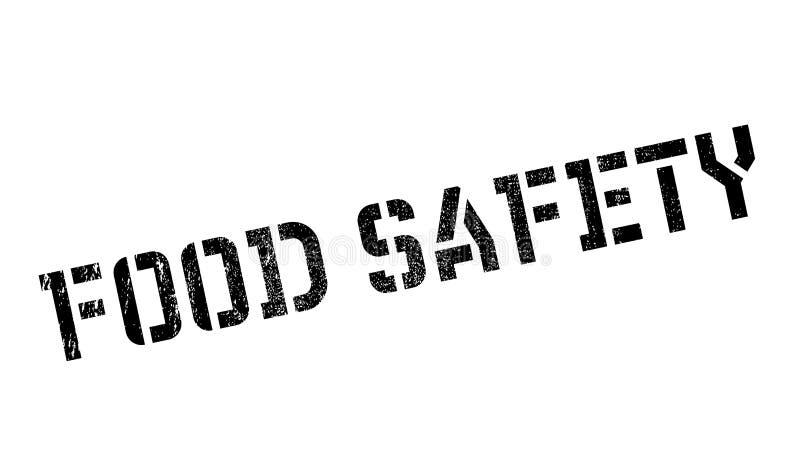 Bezpieczeństwo żywnościowe znaczek ilustracji