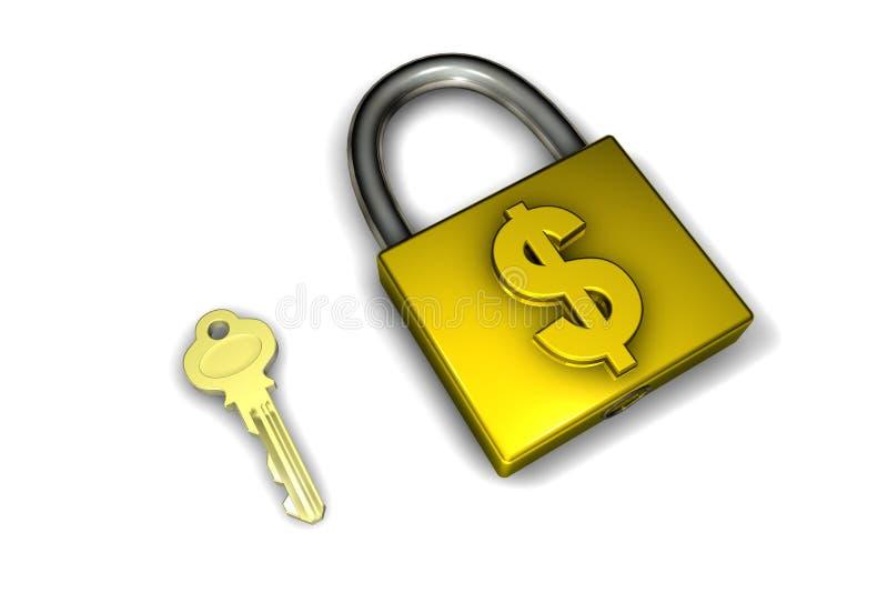 bezpieczeństwo finansowe ilustracji