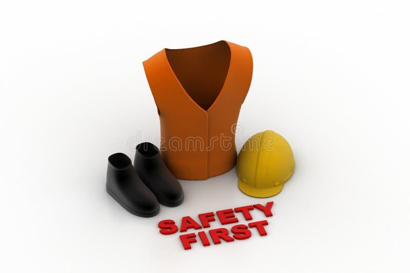 Bezpieczeństwo jest ubranym ilustracja wektor