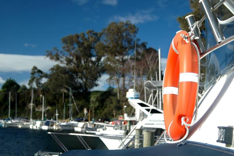 bezpieczeństwo na łodzi obrazy royalty free