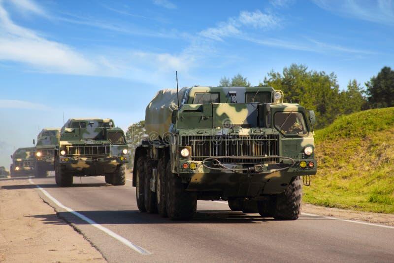 Bezpieczeństwo narodowe. Pojazdy wojskowi zdjęcia royalty free