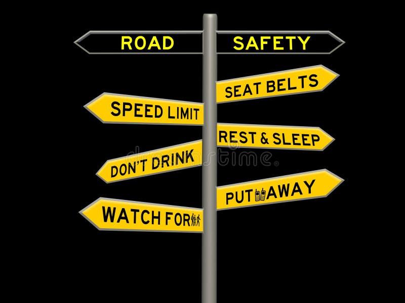 Bezpiecze?stwa na drogach poj?cia 3d znak ilustracji