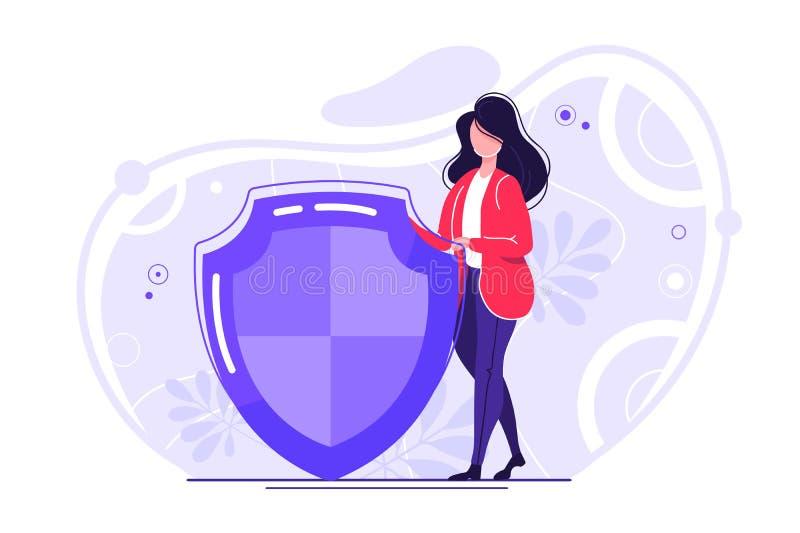 Bezpieczne internet technologie ilustracji
