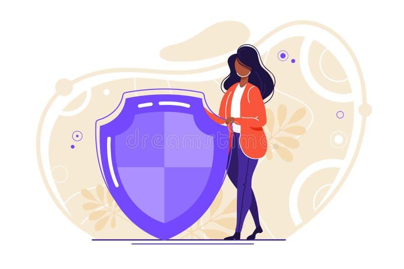 Bezpieczne internet technologie ilustracja wektor