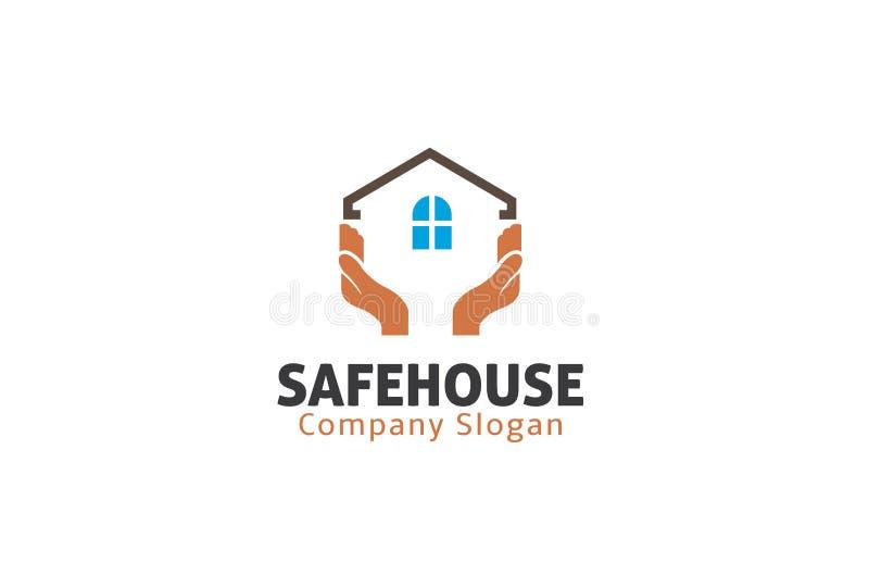 Bezpiecznego Domu mienia symbolu loga projekta ilustracja ilustracja wektor