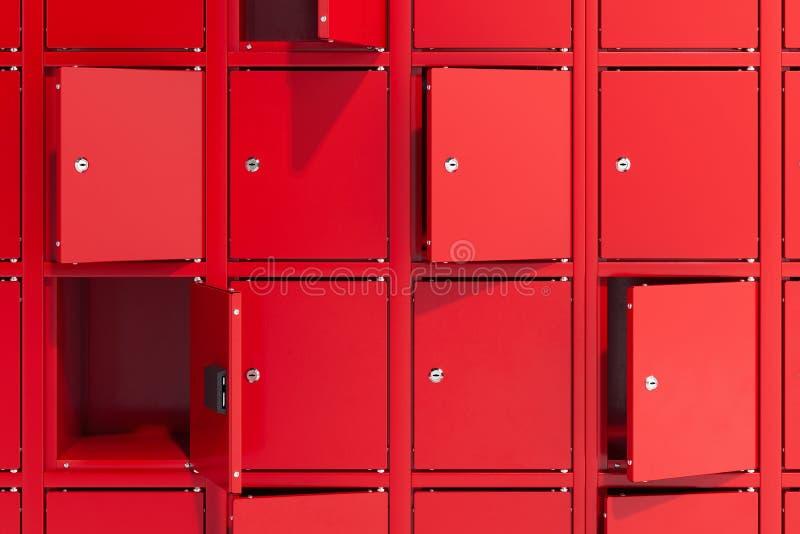 Bezpieczni depozytowi pudełka na z światłem Zbawcze szafy ?wiadczenia 3 d obrazy royalty free