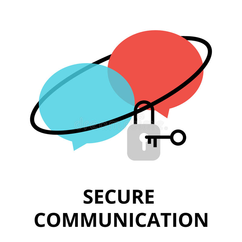 Bezpiecznie komunikaci ikona dla grafiki i sieć projekta, ilustracja wektor