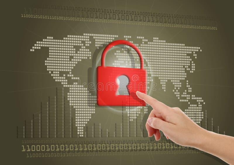 Bezpiecznie lub blokujący internet obraz royalty free