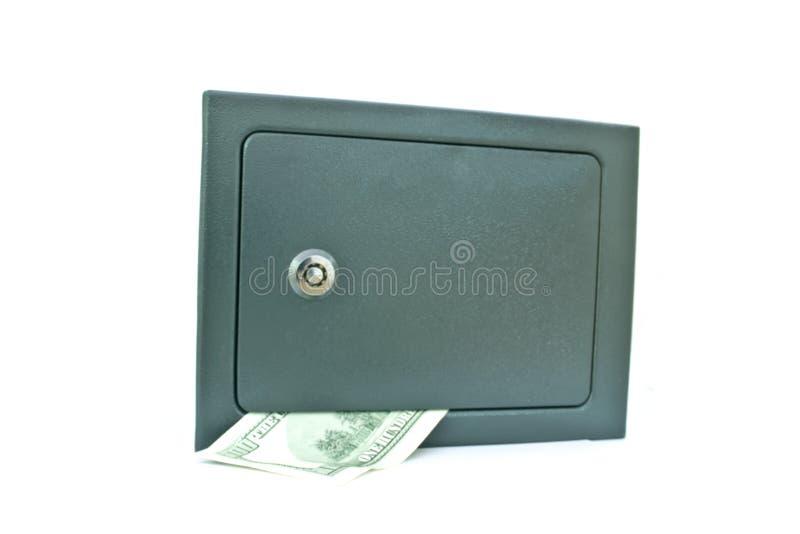 Bezpieczny depozytowy pudełko z pieniądze fotografia stock