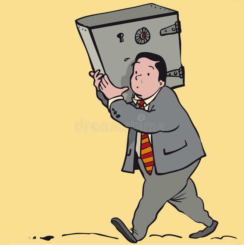 Bezpieczny mężczyzna ilustracji