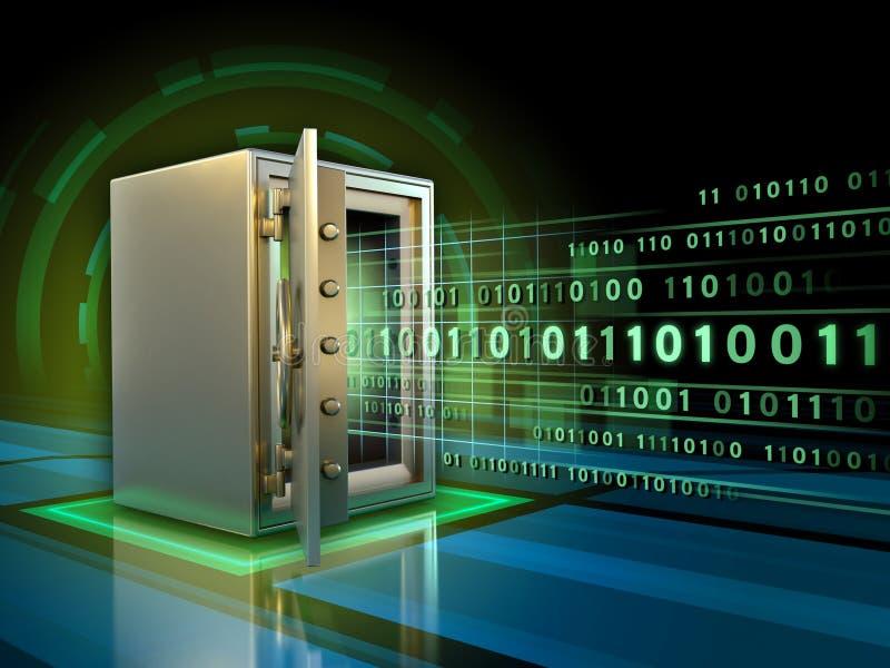 Bezpieczny przechowywanie danych ilustracji