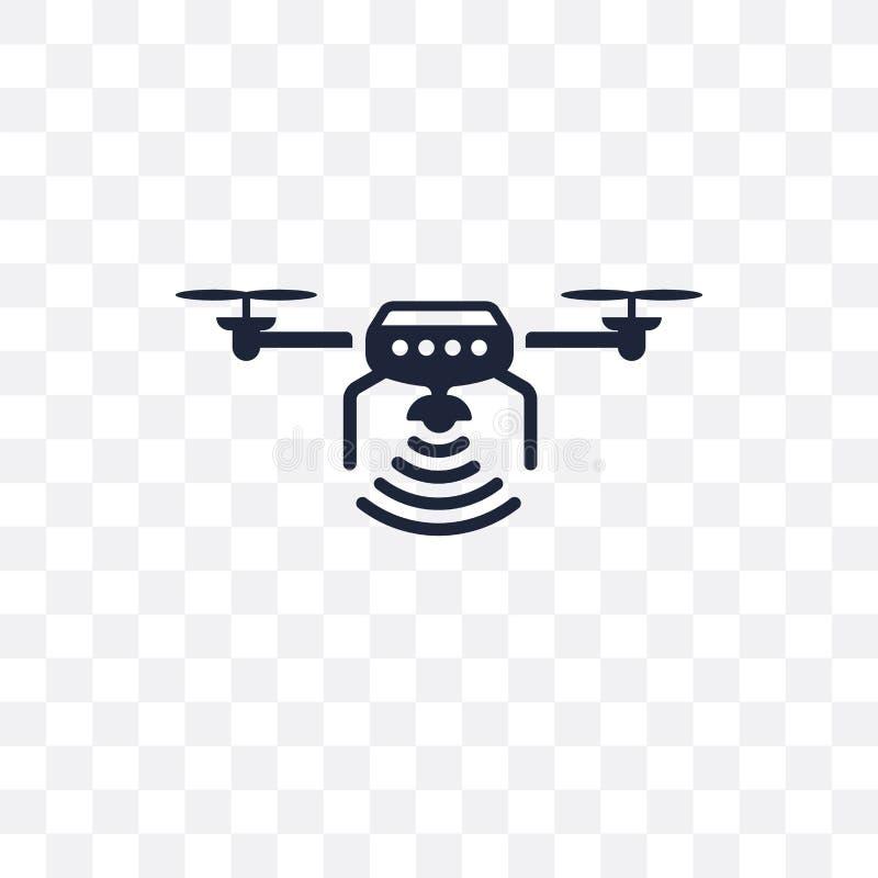 Bezpilotowego powietrznego pojazdu przejrzysta ikona Bezpilotowy powietrzny vehicl ilustracji