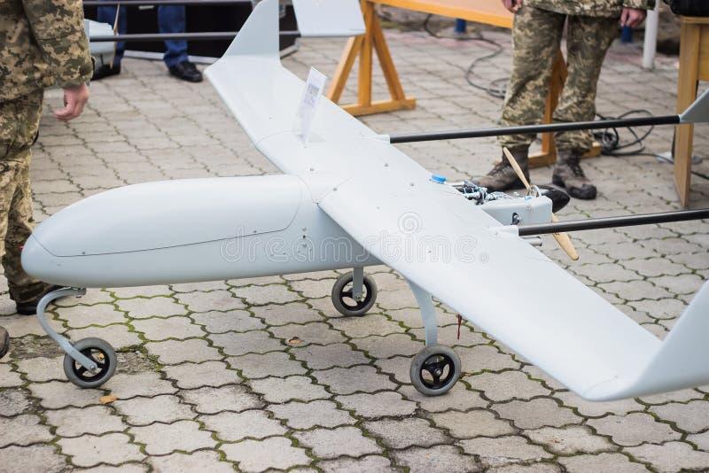 Bezpilotowy samolot wojskowy obrazy royalty free