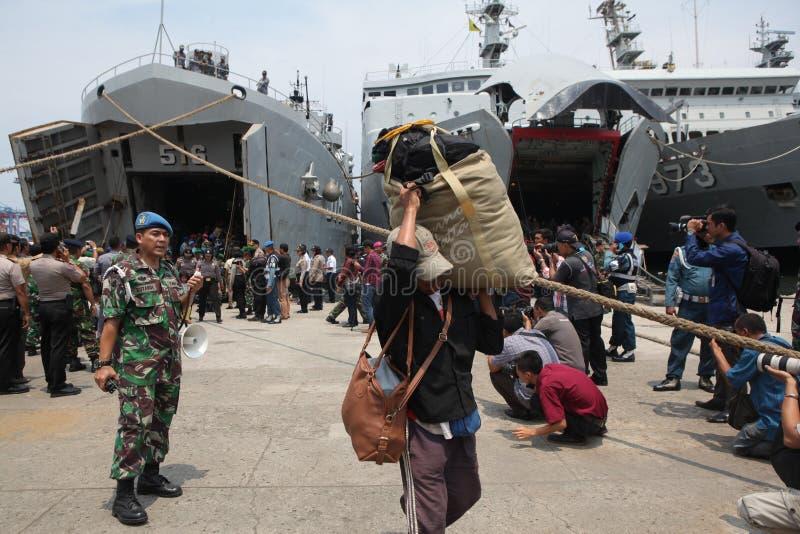 bezprawna obecność i ja dewiacyjne ideologie w Indonesia obrazy stock