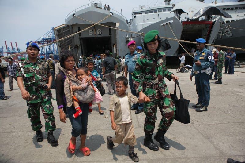 bezprawna obecność i ja dewiacyjne ideologie w Indonesia zdjęcia royalty free