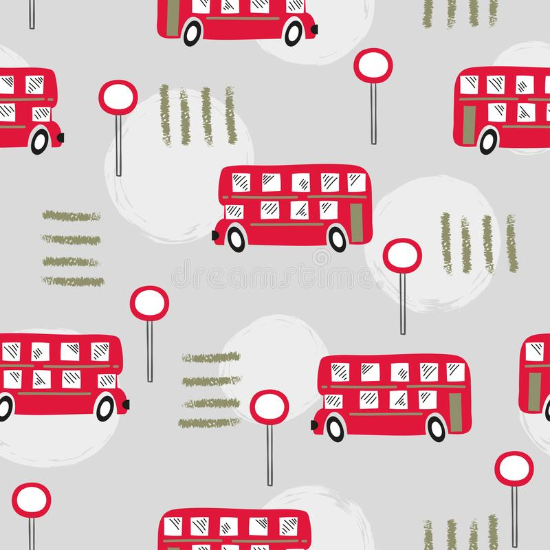 Bezproblemowy, czerwony szyna londyńska royalty ilustracja