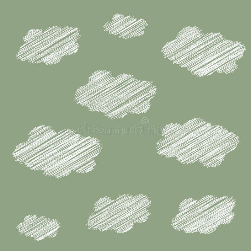 Bezproblemowy wzorzec chmury royalty ilustracja