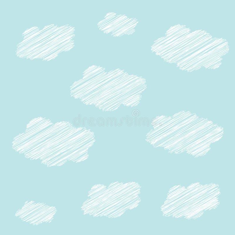 Bezproblemowy wzorzec chmury ilustracji