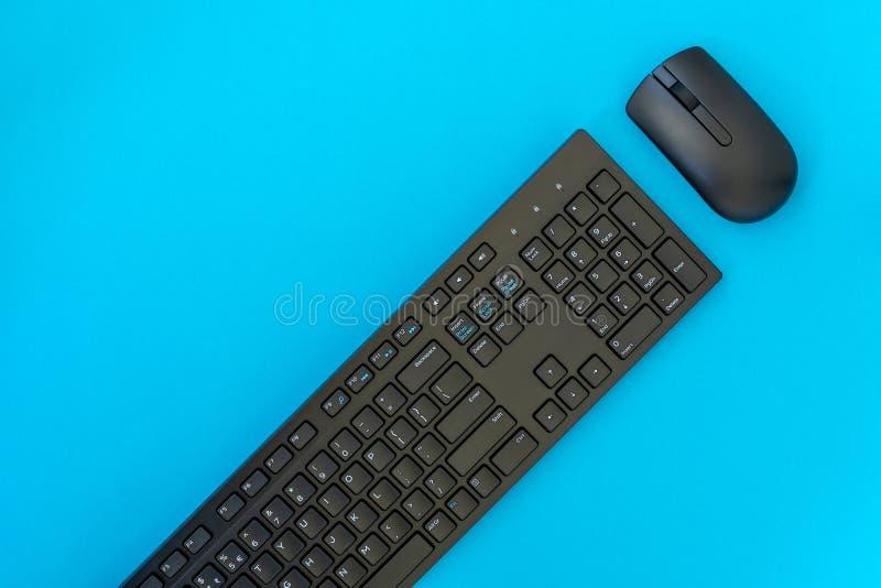 Bezprzewodowa komputerowa klawiatura i mysz fotografia royalty free