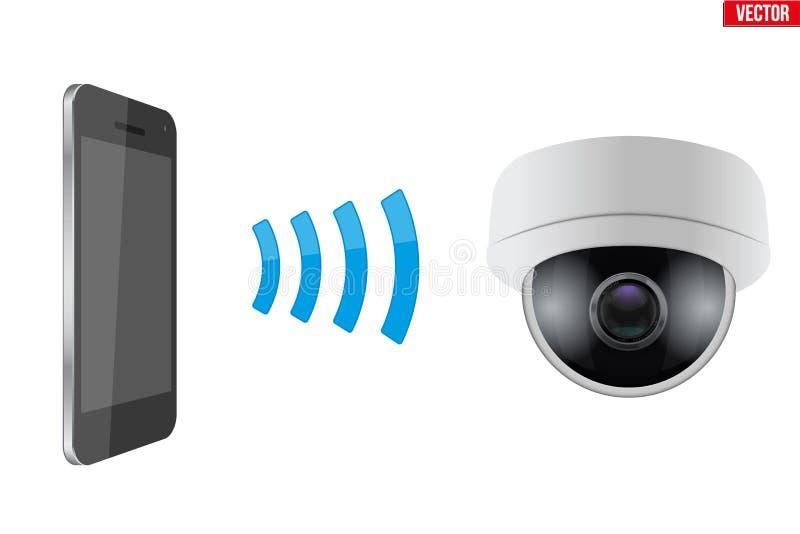 Bezprzewodowa Kontroluje CCTV kamera bezpieczeństwa royalty ilustracja