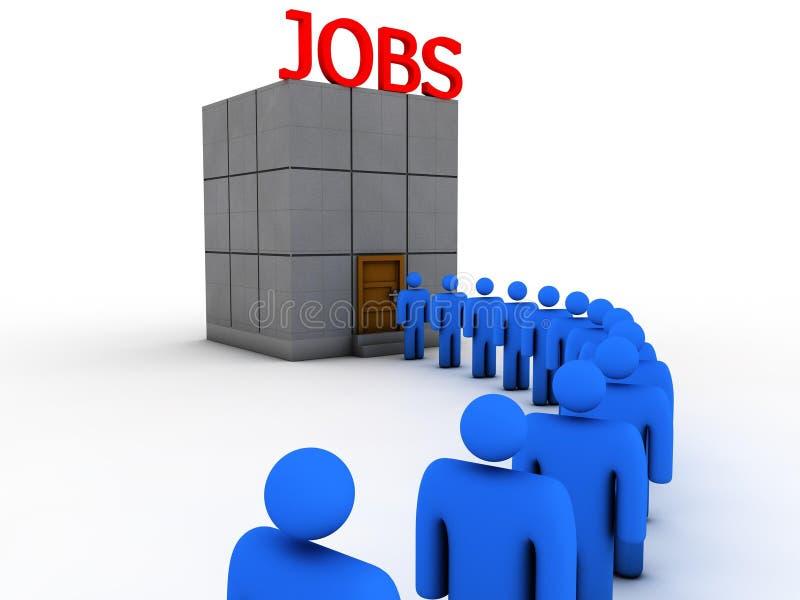 bezrobocie royalty ilustracja