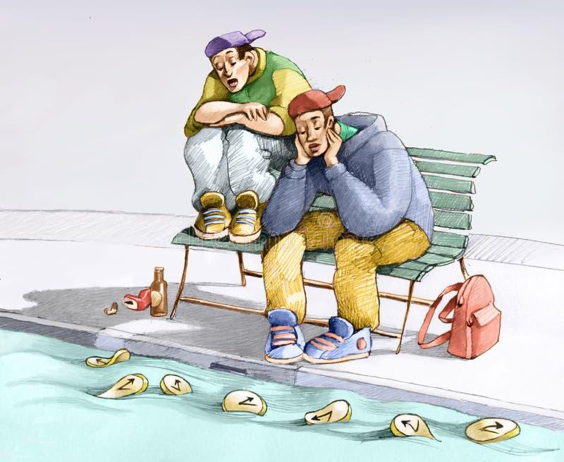bezrobocie ilustracji