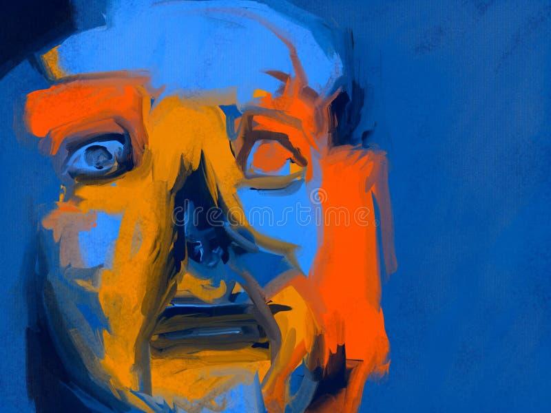 Bezsenność - Cyfrowego Obraz ilustracji