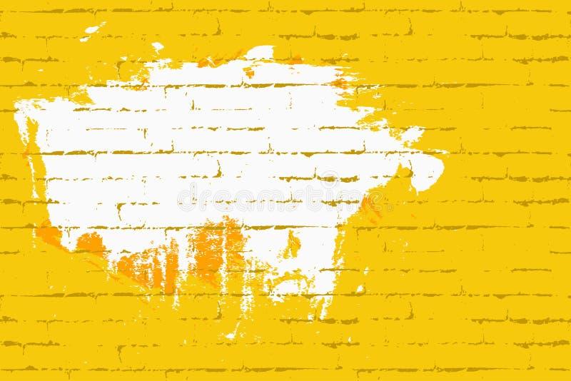 Bezszwowa ściana z ceglaną teksturą Przestrzeń dla graffiti lub literowania Tło dla muzycznych plakatów, zaproszenia, plakaty royalty ilustracja