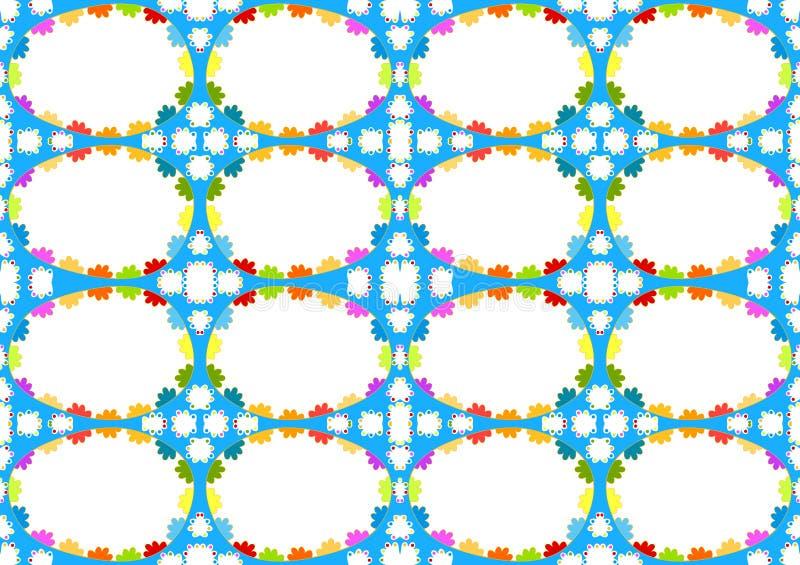 Bezszwowa Błękitna jajko ram tekstura ilustracji