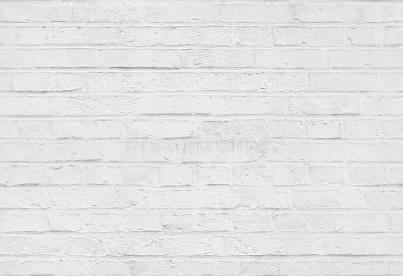 Bezszwowa biała ściana z cegieł wzoru tekstura zdjęcia stock
