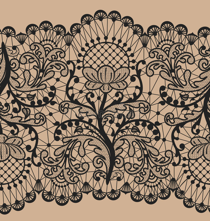 Bezszwowa biel koronka royalty ilustracja