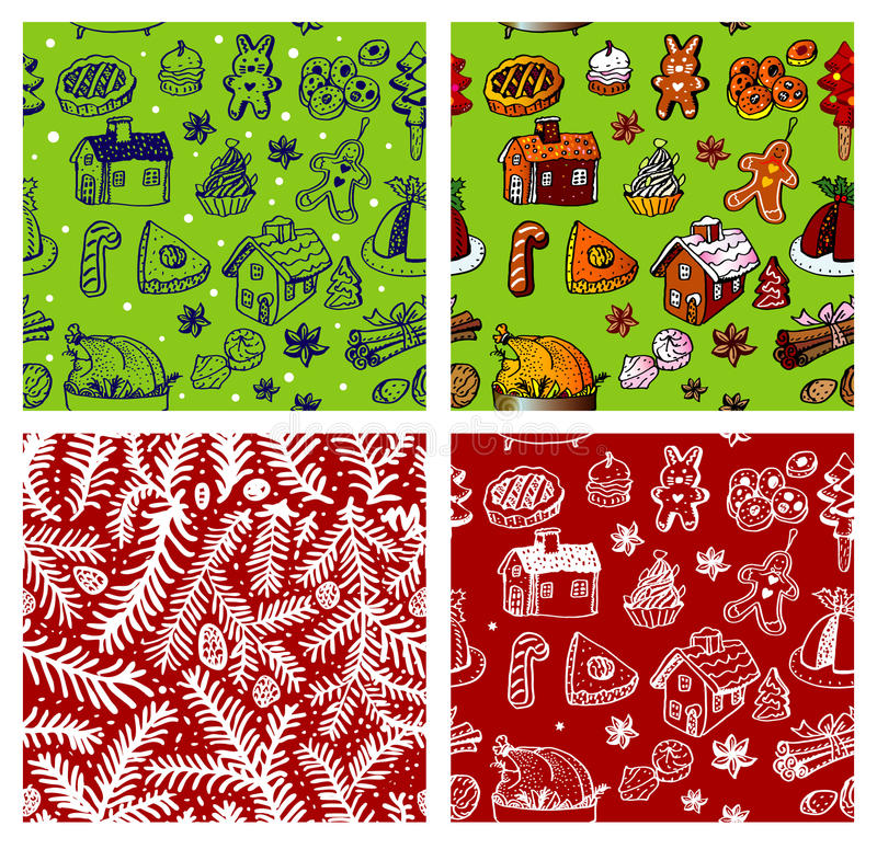 bezszwowa Boże Narodzenie tapeta ilustracja wektor