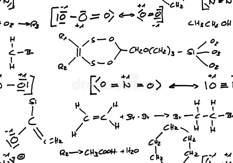 bezszwowa chemiczna tło formuła ilustracji