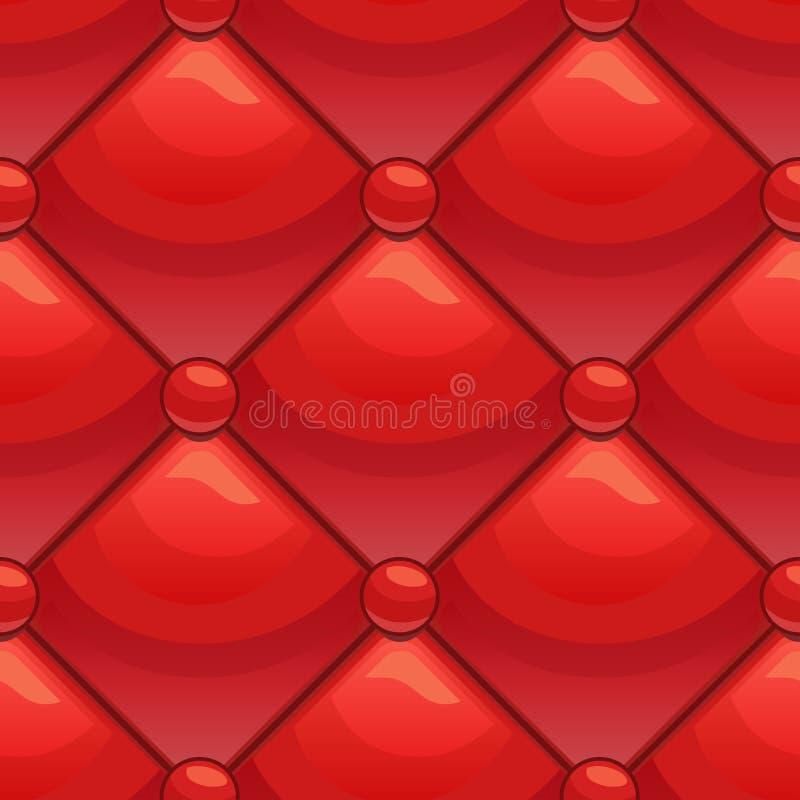 Bezszwowa czerwień wzoru tapicerowania skóra ilustracji