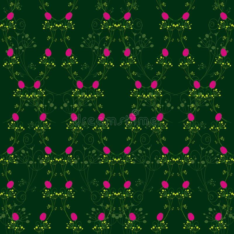 bezszwowa czerwieni abstrakcjonistyczna deseniowa róża ilustracja wektor