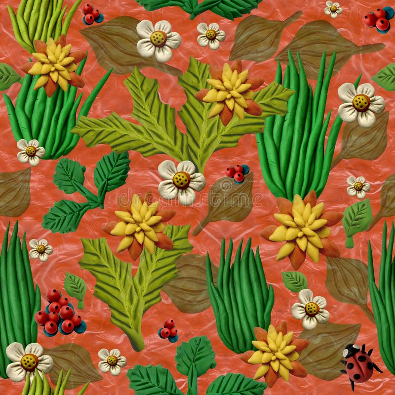 Bezszwowa dekoracyjna tekstura, symuluje trawy fotografia stock