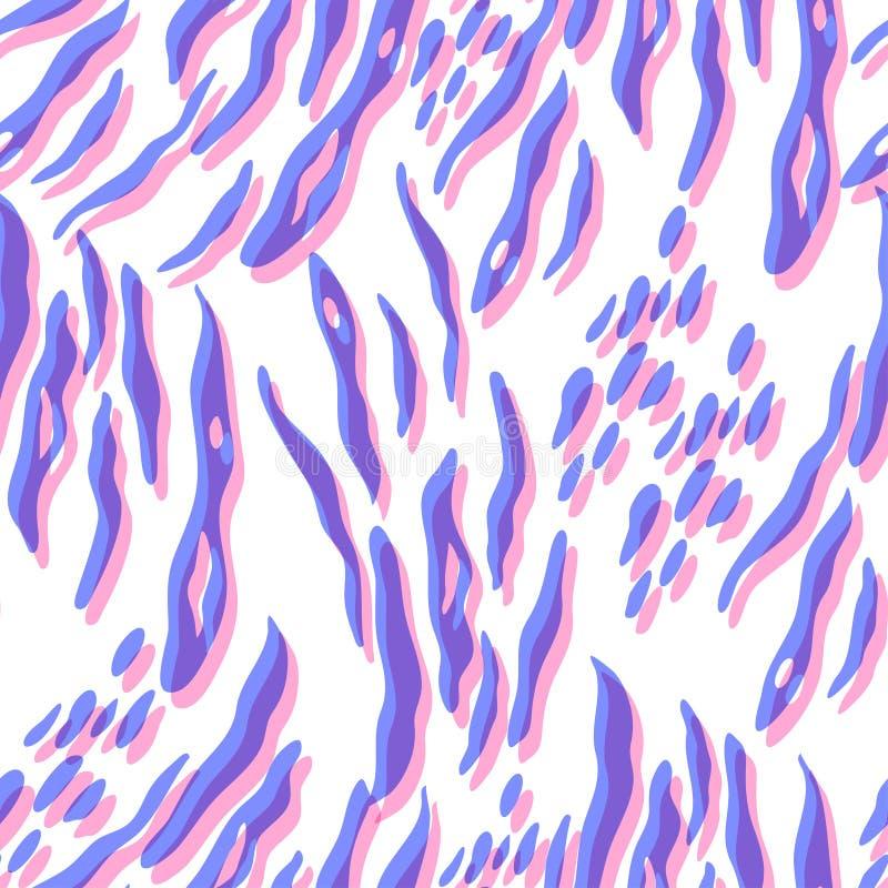 Bezszwowa deseniowa powtórka tropikalni liście royalty ilustracja
