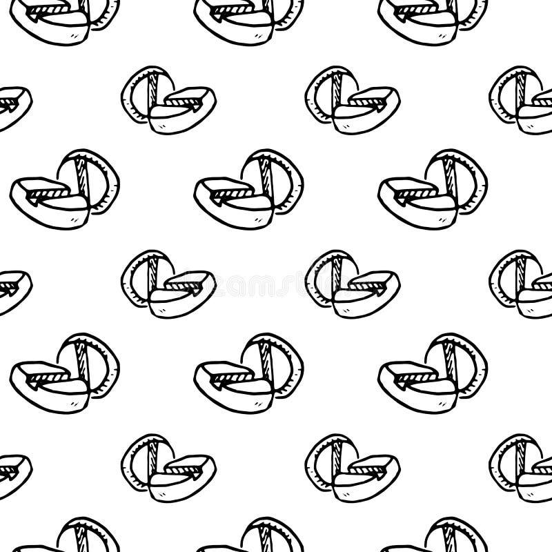 Bezszwowa deseniowa ręka rysujący pigułki doodle Nakreślenie stylowa ikona dec ilustracji