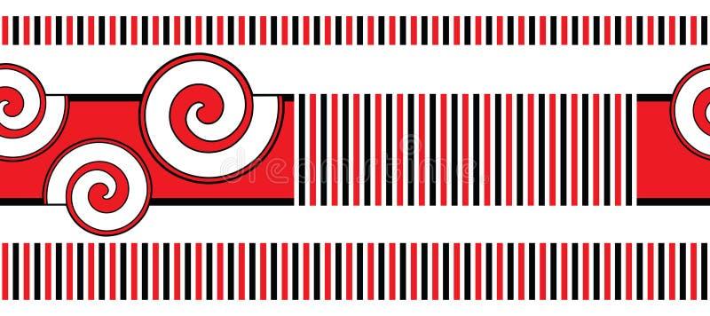 Bezszwowa geometrical wektor granica ilustracji