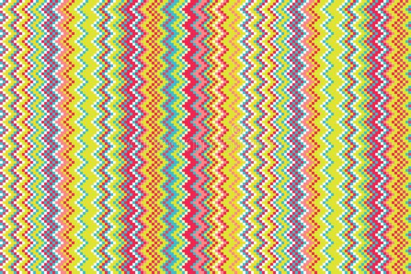 Bezszwowa geometryczna plemienna ręka rysujący trójboka tła wzór w wektorze ilustracji